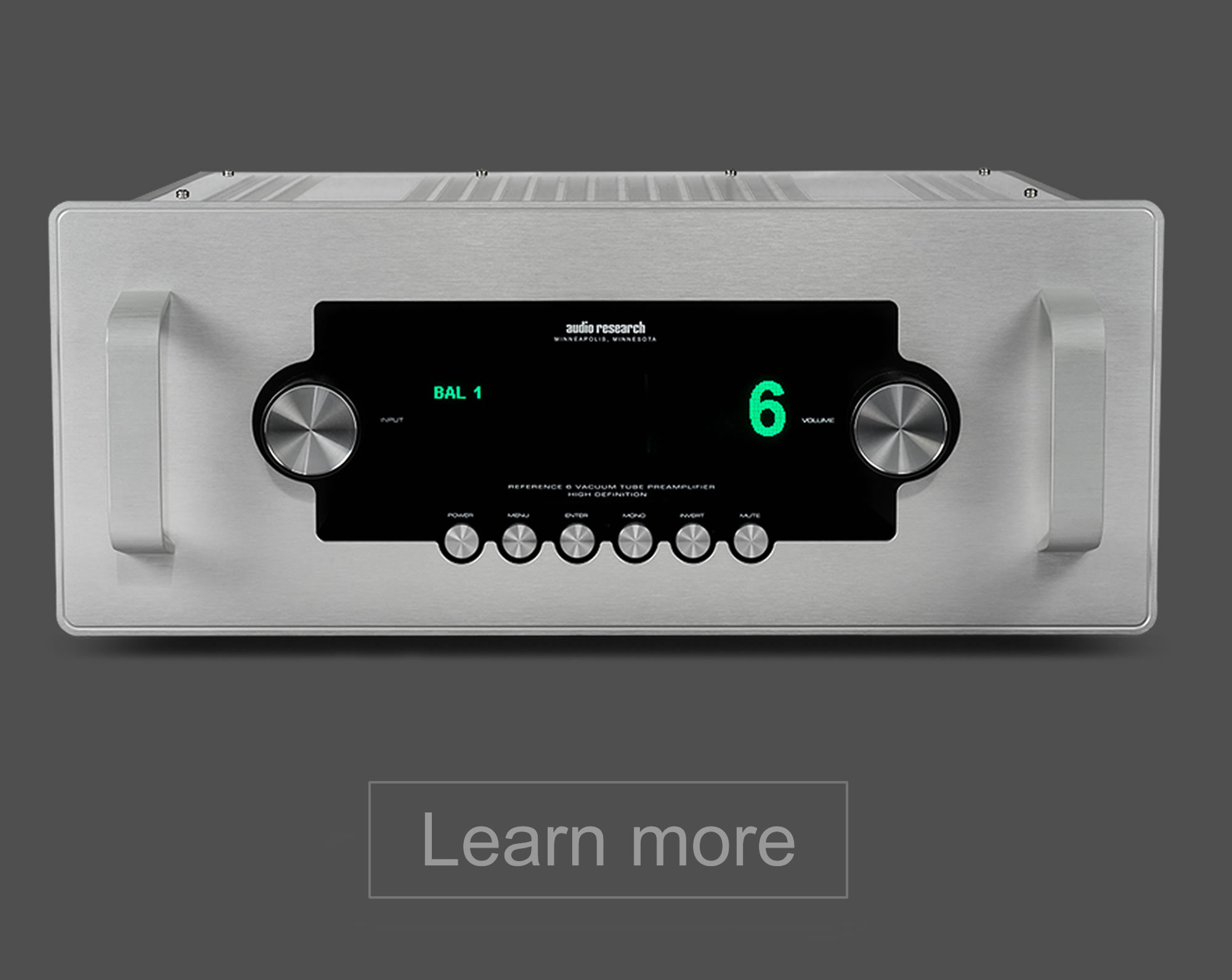Audio Research Valve Amplifiers and CD Players - Esoteric Audio